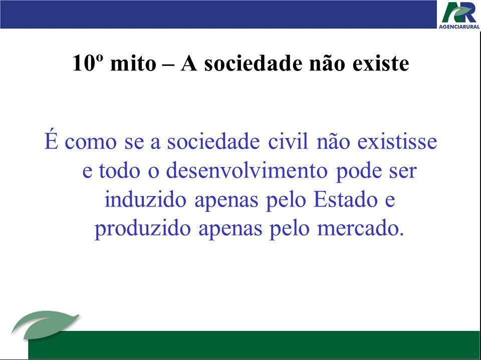 10º mito – A sociedade não existe