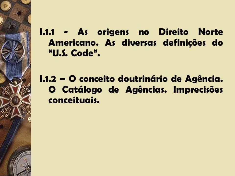 I. 1. 1 - As origens no Direito Norte Americano