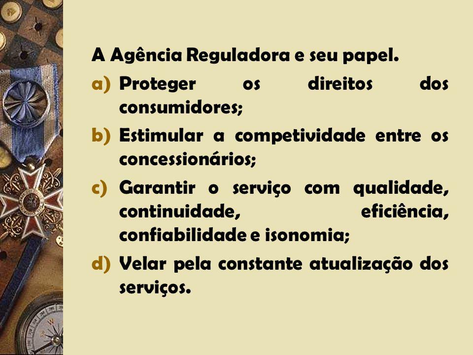 A Agência Reguladora e seu papel.