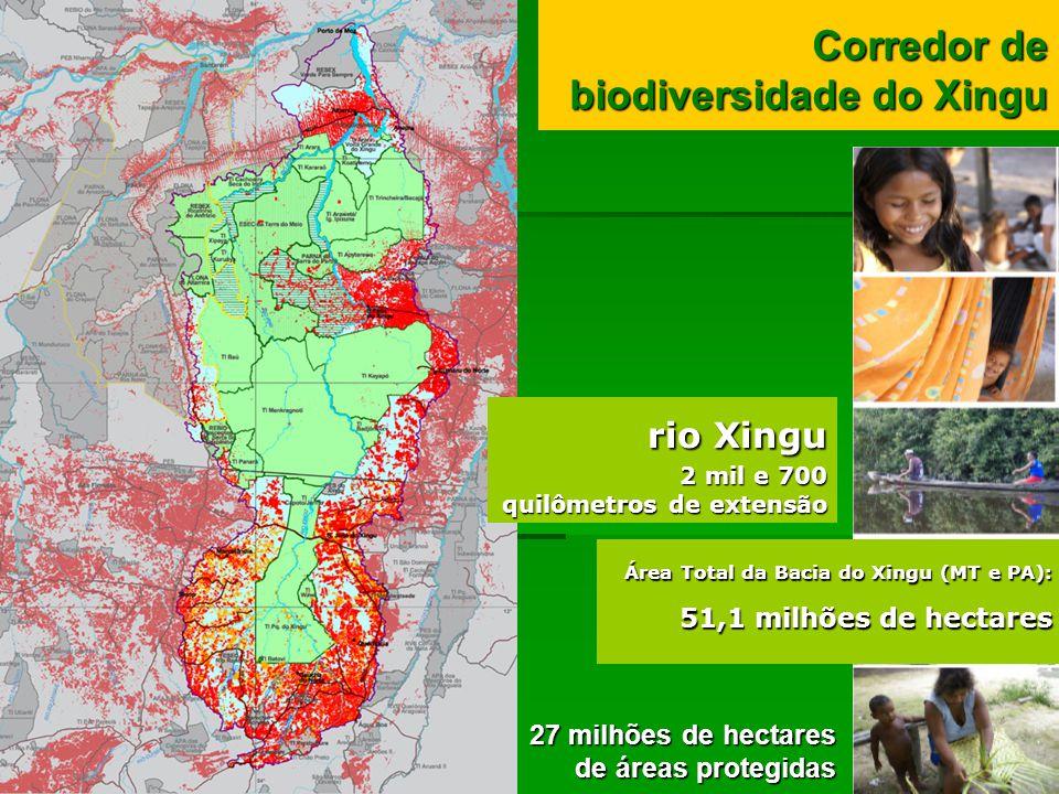rio Xingu Corredor de biodiversidade do Xingu 27 milhões de hectares