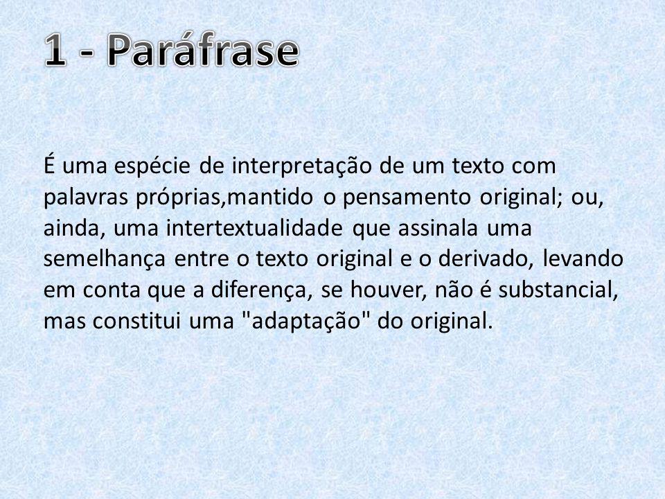 1 - Paráfrase