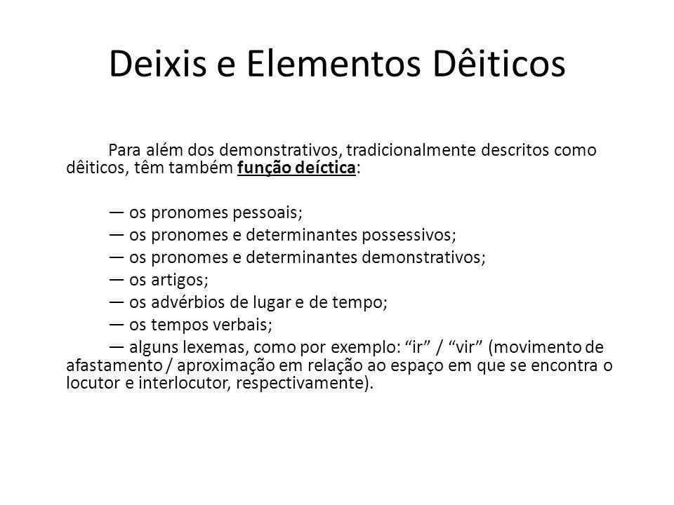 Deixis e Elementos Dêiticos