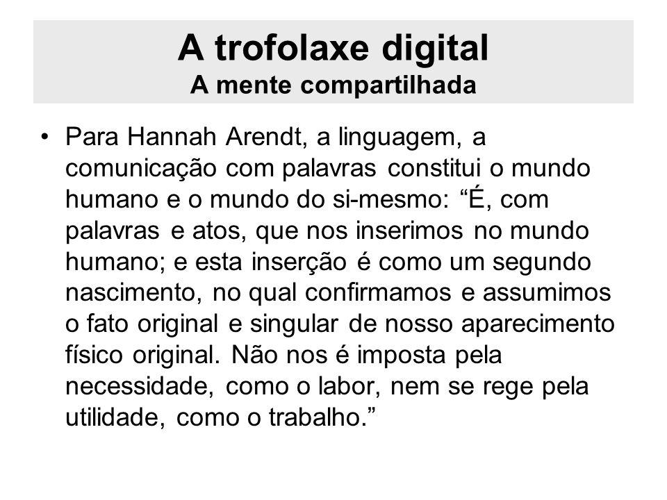 A trofolaxe digital A mente compartilhada