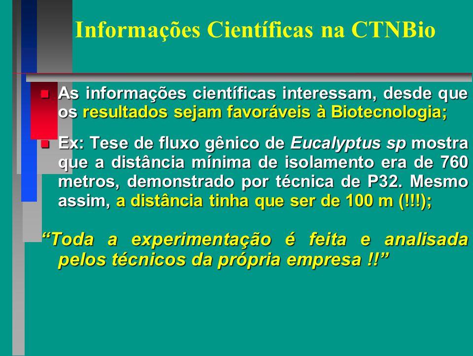 Informações Científicas na CTNBio