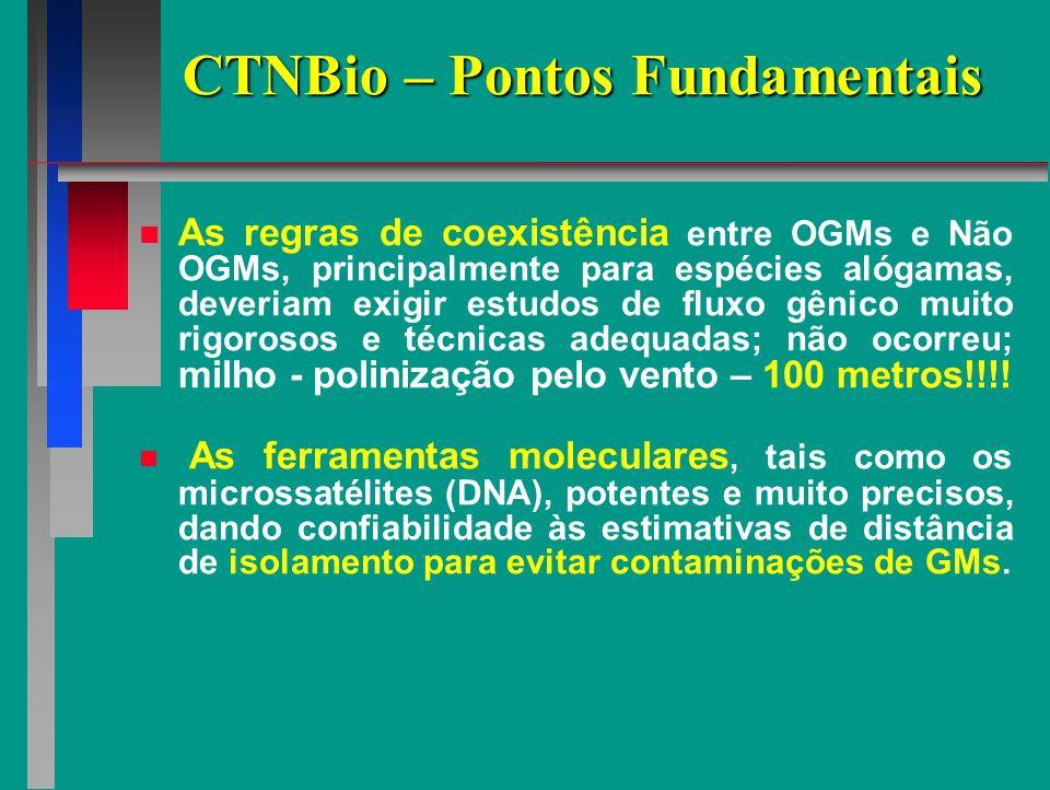 CTNBio – Pontos Fundamentais