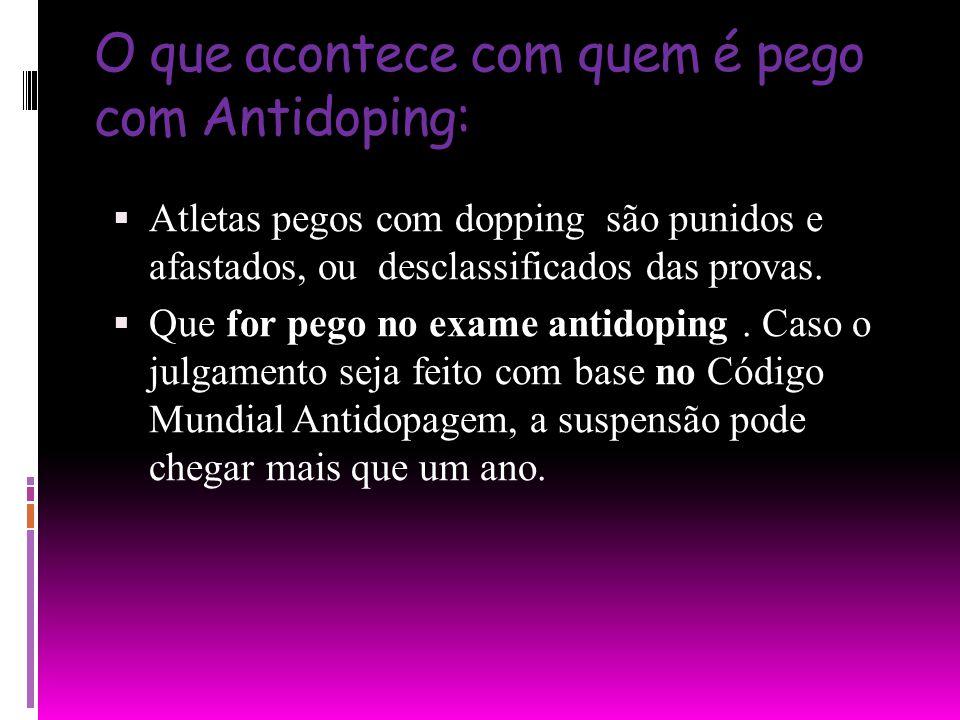 O que acontece com quem é pego com Antidoping: