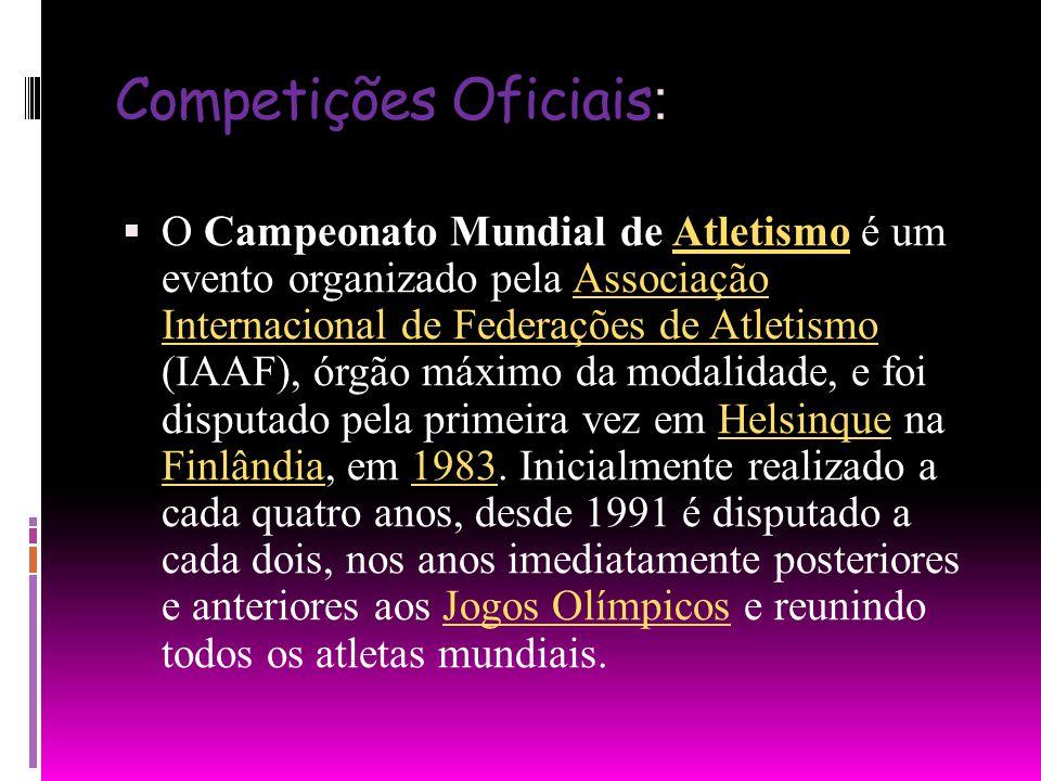 Competições Oficiais: