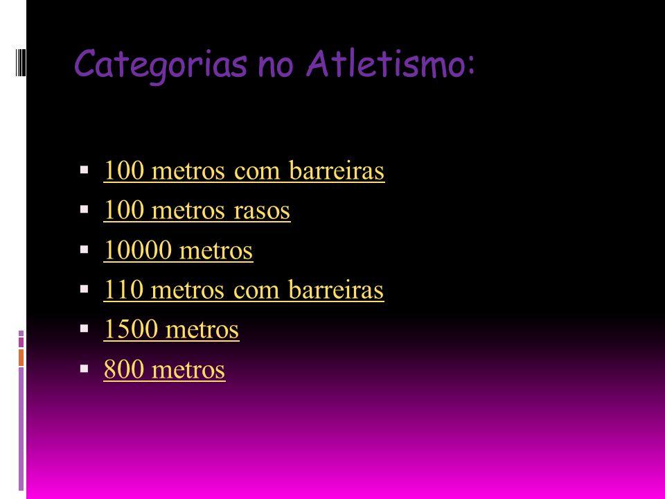 Categorias no Atletismo: