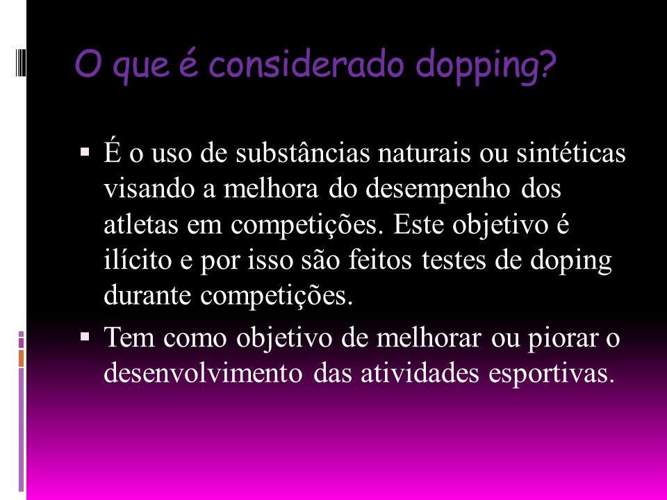 O que é considerado dopping