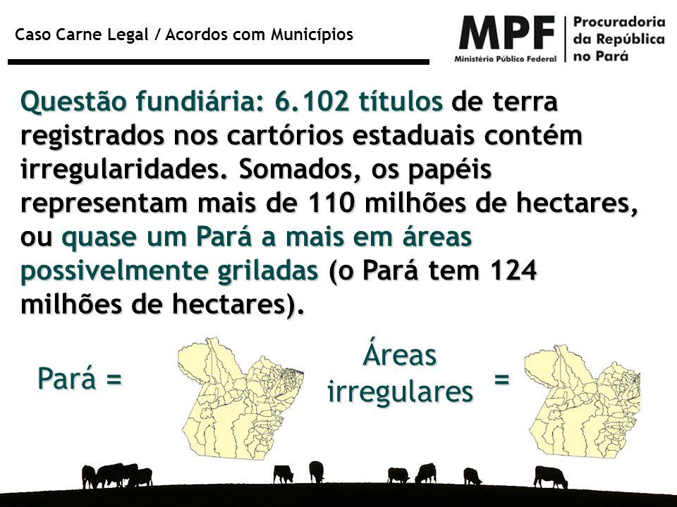 Áreas irregulares Pará = =
