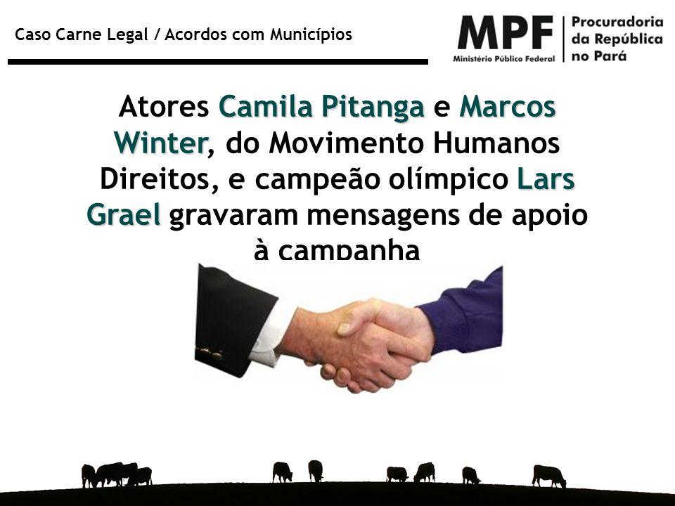 Atores Camila Pitanga e Marcos Winter, do Movimento Humanos Direitos, e campeão olímpico Lars Grael gravaram mensagens de apoio à campanha