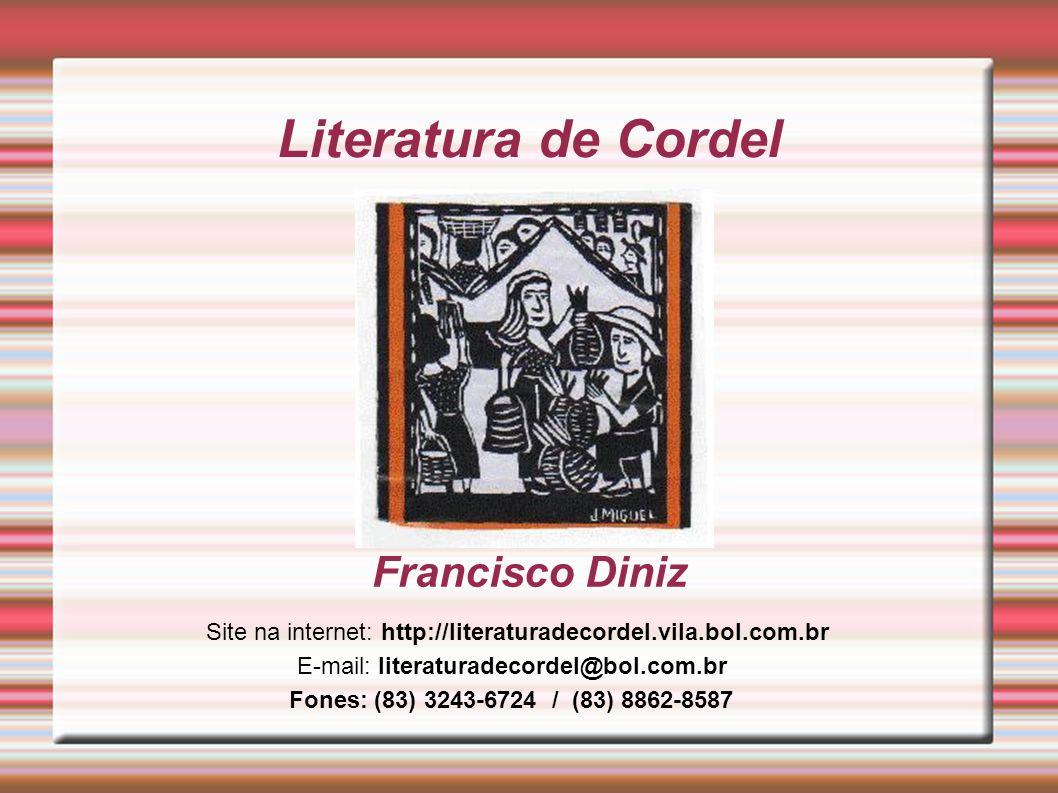 Literatura de Cordel Francisco Diniz
