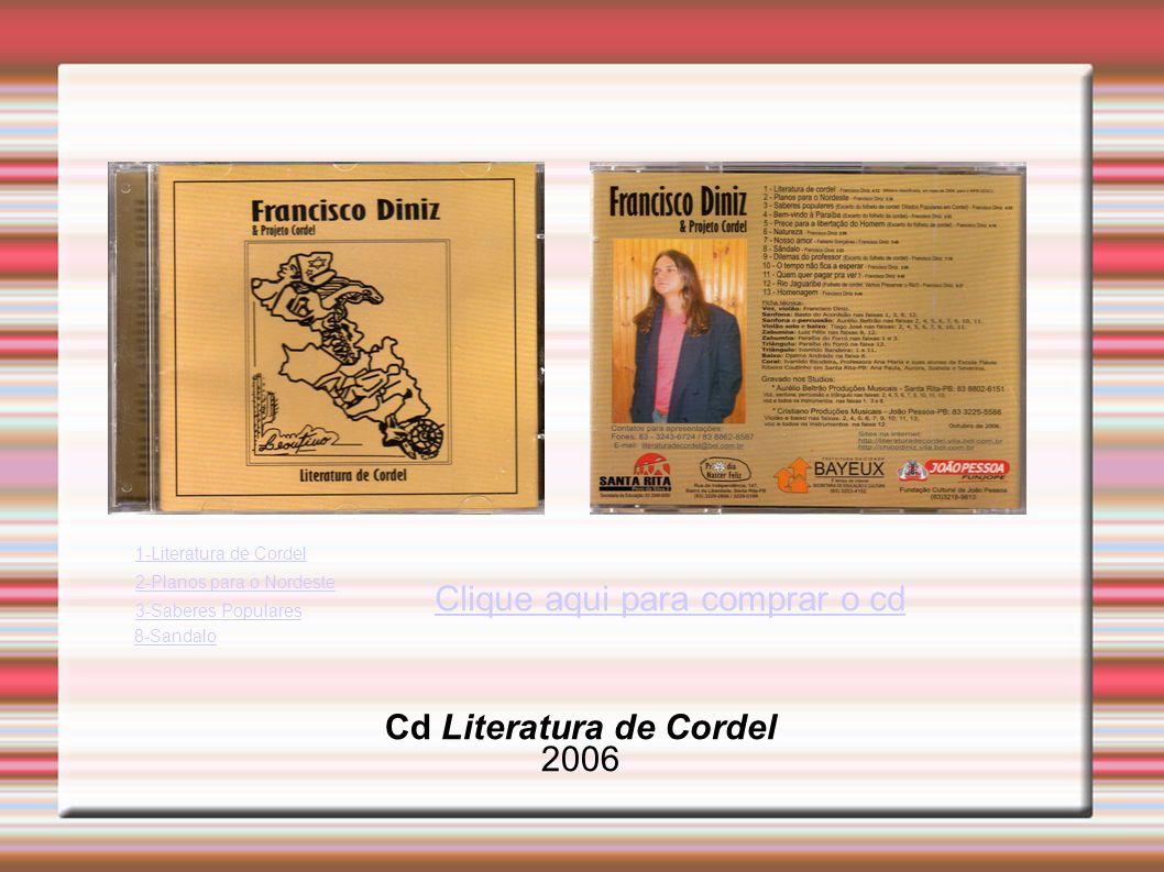 Cd Literatura de Cordel