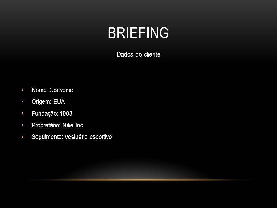Briefing Dados do cliente Nome: Converse Origem: EUA Fundação: 1908