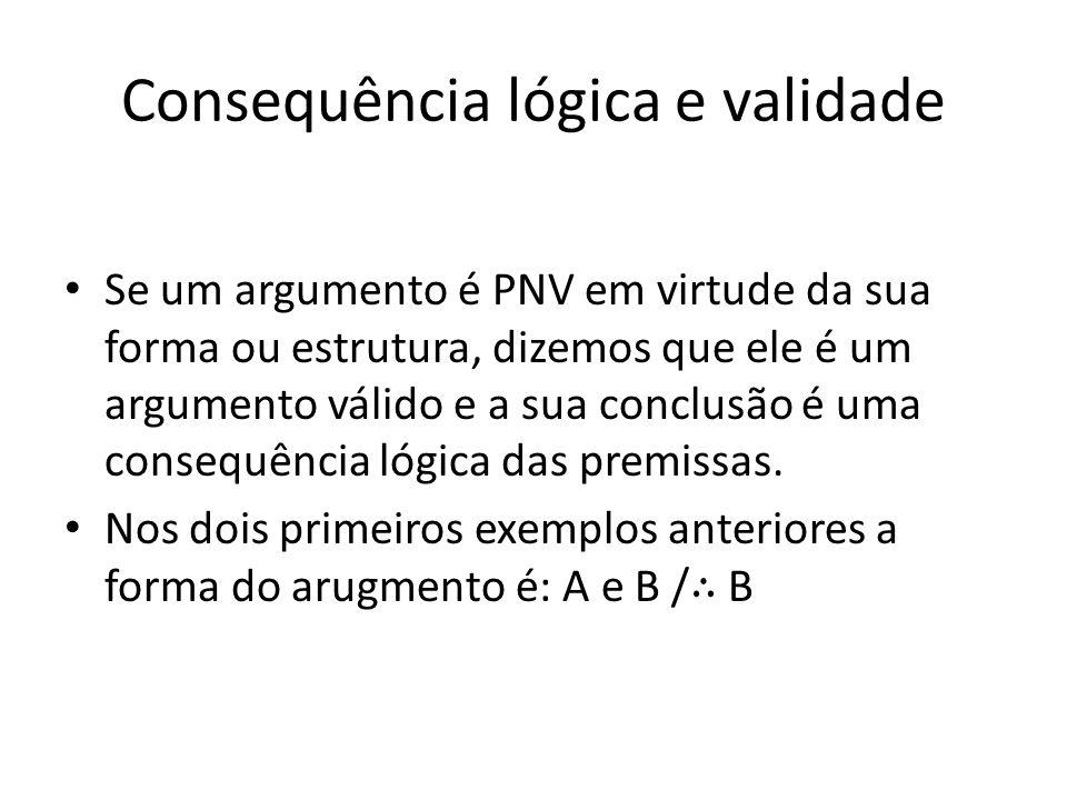 Consequência lógica e validade