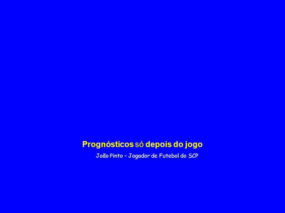João Pinto – Jogador de Futebol do SCP