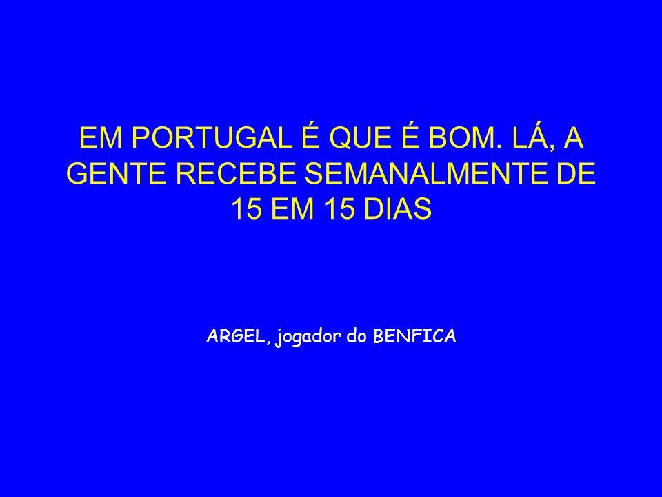 ARGEL, jogador do BENFICA
