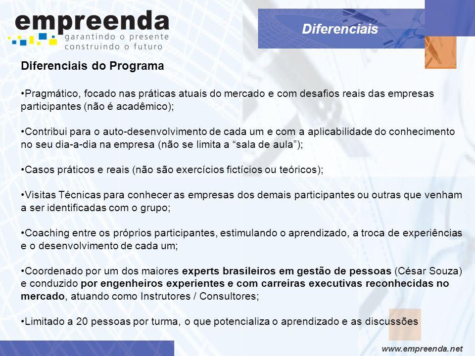 Diferenciais Diferenciais do Programa