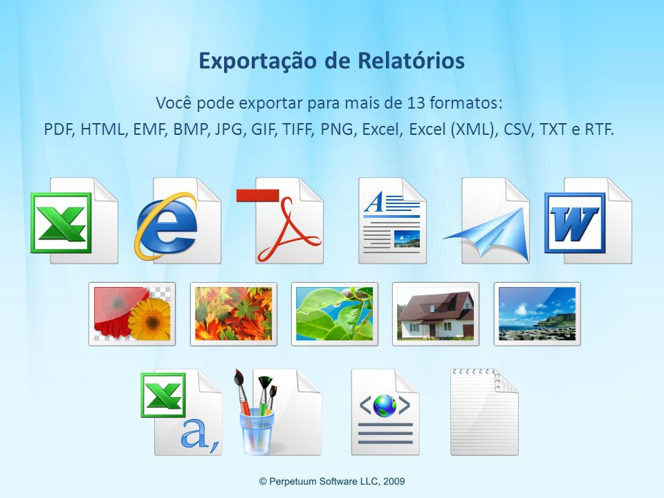 Exportação de Relatórios