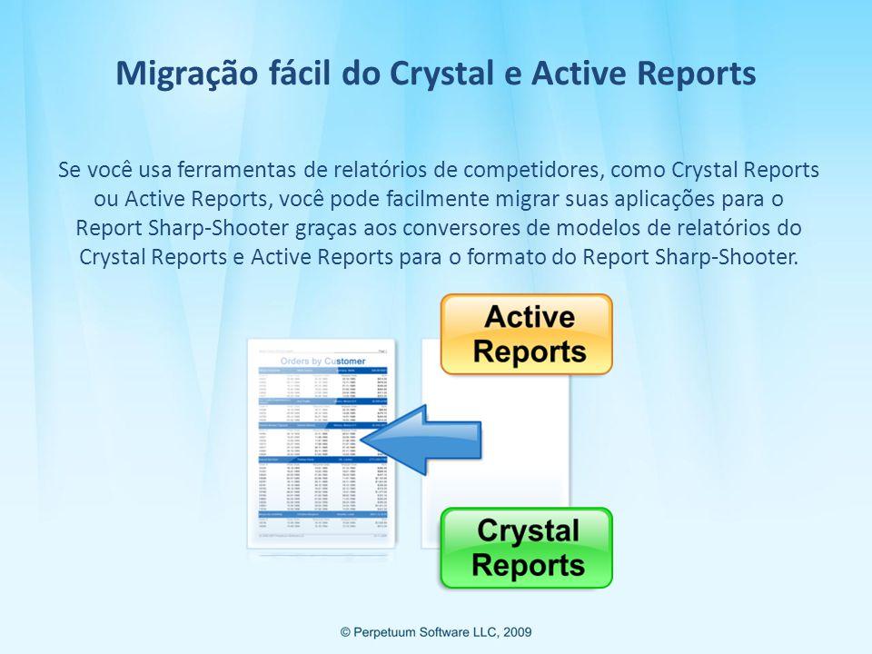 Migração fácil do Crystal e Active Reports