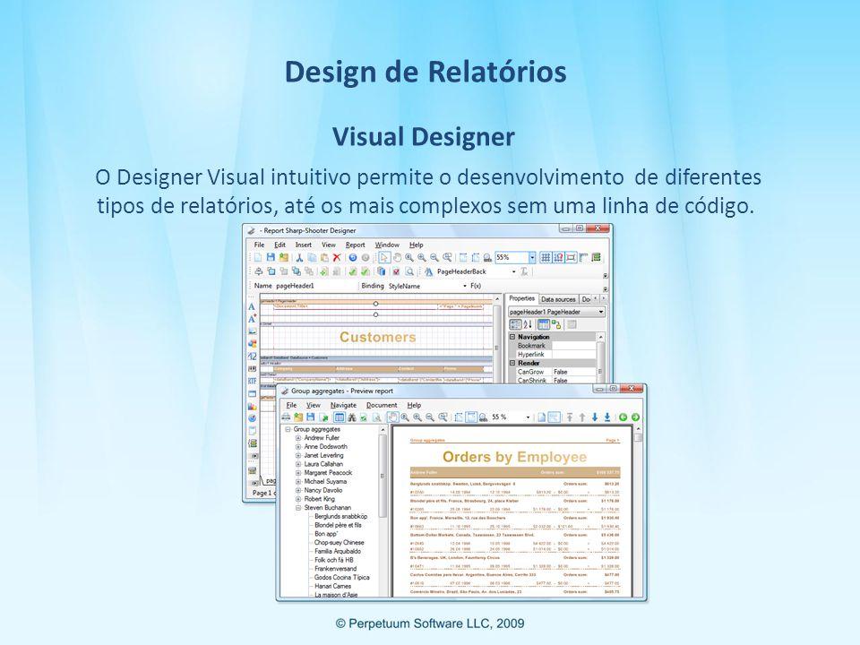 Design de Relatórios Visual Designer.