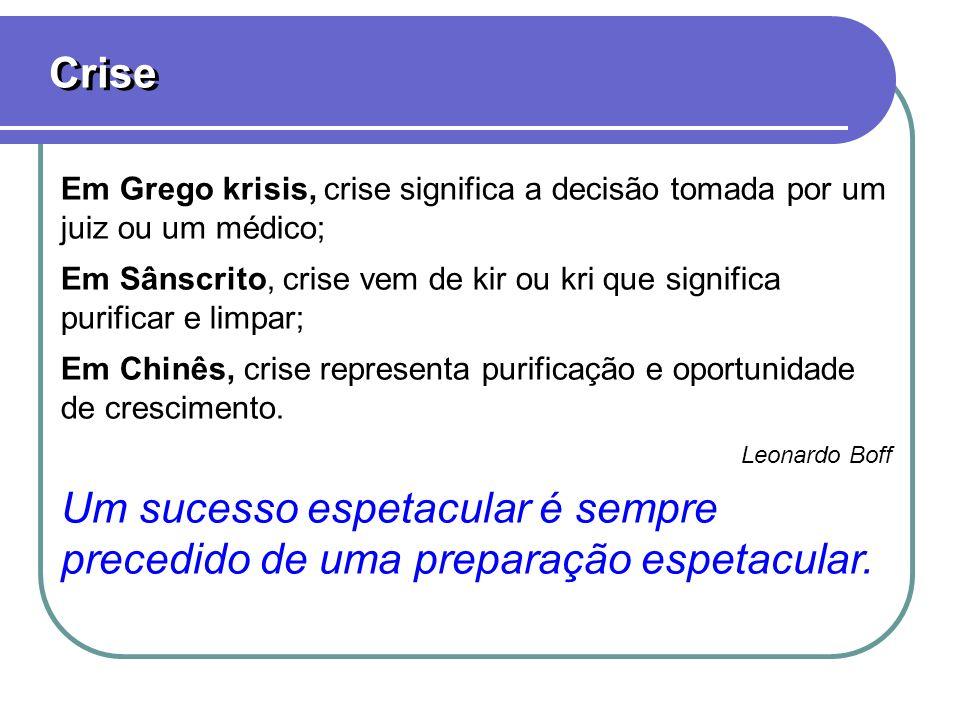 Crise Em Grego krisis, crise significa a decisão tomada por um juiz ou um médico;
