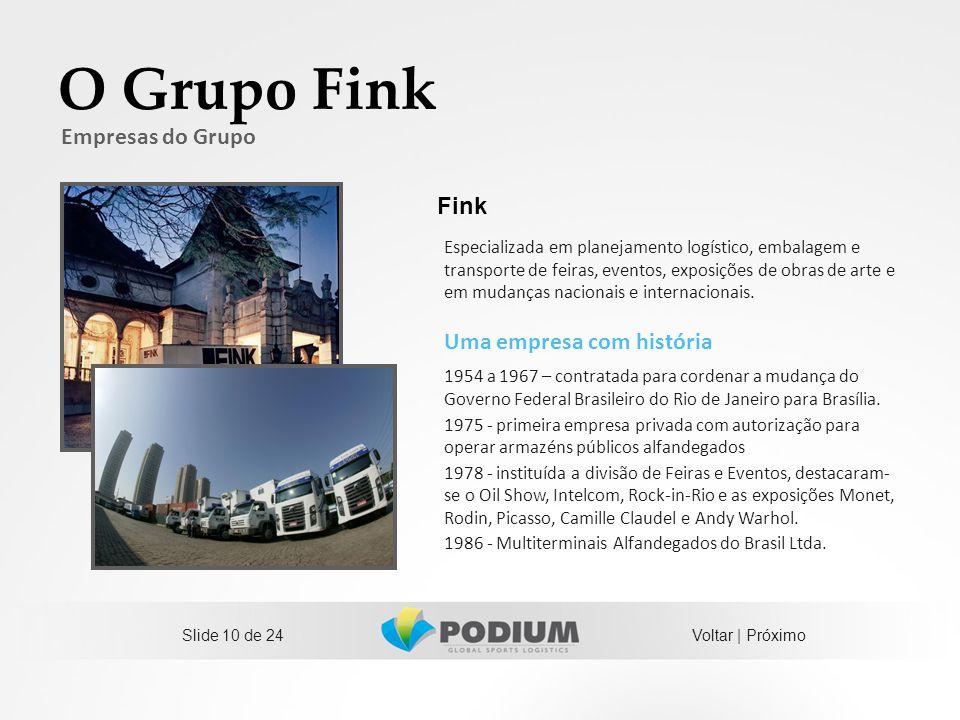 O Grupo Fink Empresas do Grupo Fink Uma empresa com história