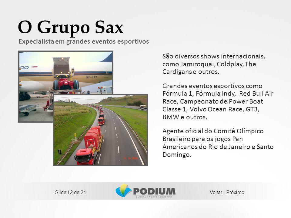 O Grupo Sax Expecialista em grandes eventos esportivos