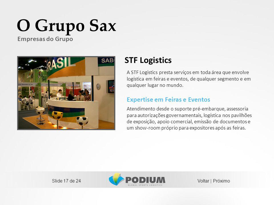 O Grupo Sax STF Logistics Empresas do Grupo