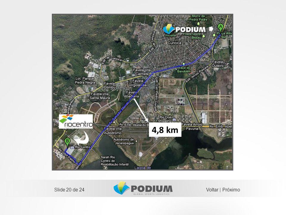 4,8 km Slide 20 de 24 Voltar | Próximo 20