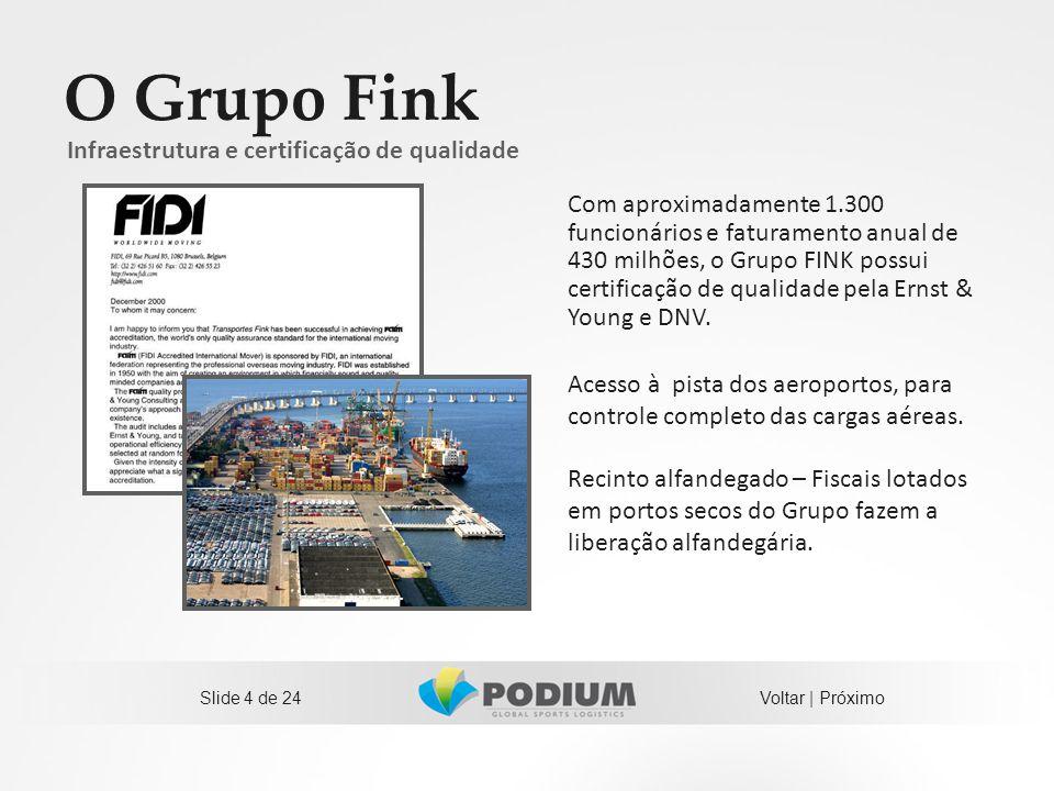 O Grupo Fink Infraestrutura e certificação de qualidade