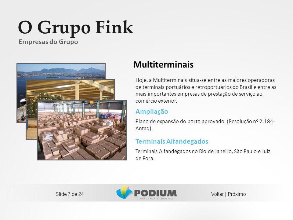 O Grupo Fink Multiterminais Empresas do Grupo Ampliação