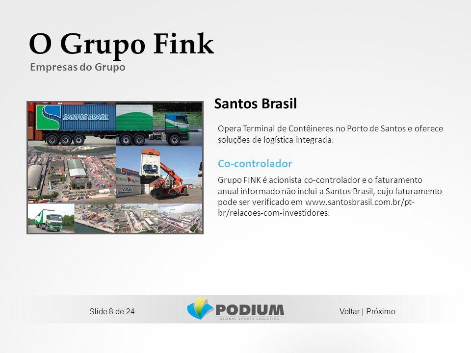 O Grupo Fink Santos Brasil Empresas do Grupo Co-controlador