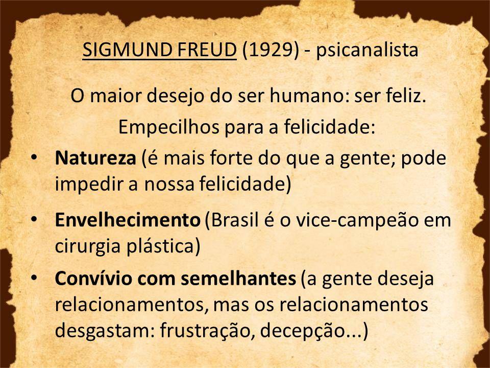 SIGMUND FREUD (1929) - psicanalista