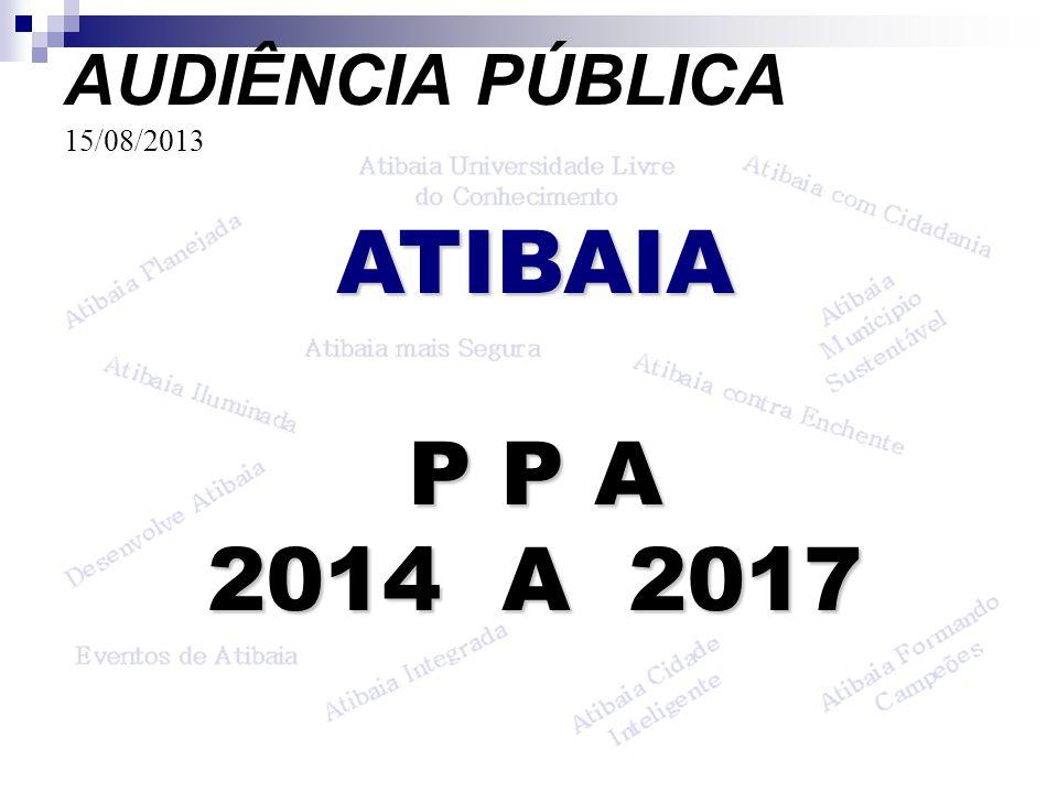 AUDIÊNCIA PÚBLICA 15/08/2013 ATIBAIA P P A 2014 A 2017