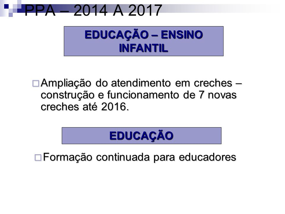 EDUCAÇÃO – ENSINO INFANTIL