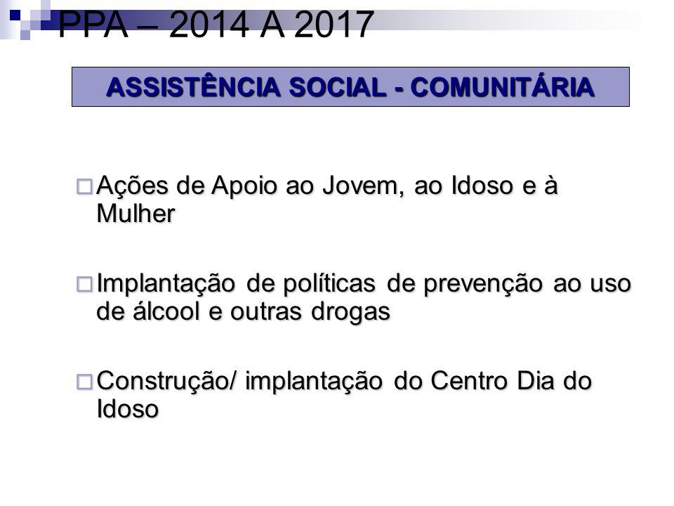 ASSISTÊNCIA SOCIAL - COMUNITÁRIA