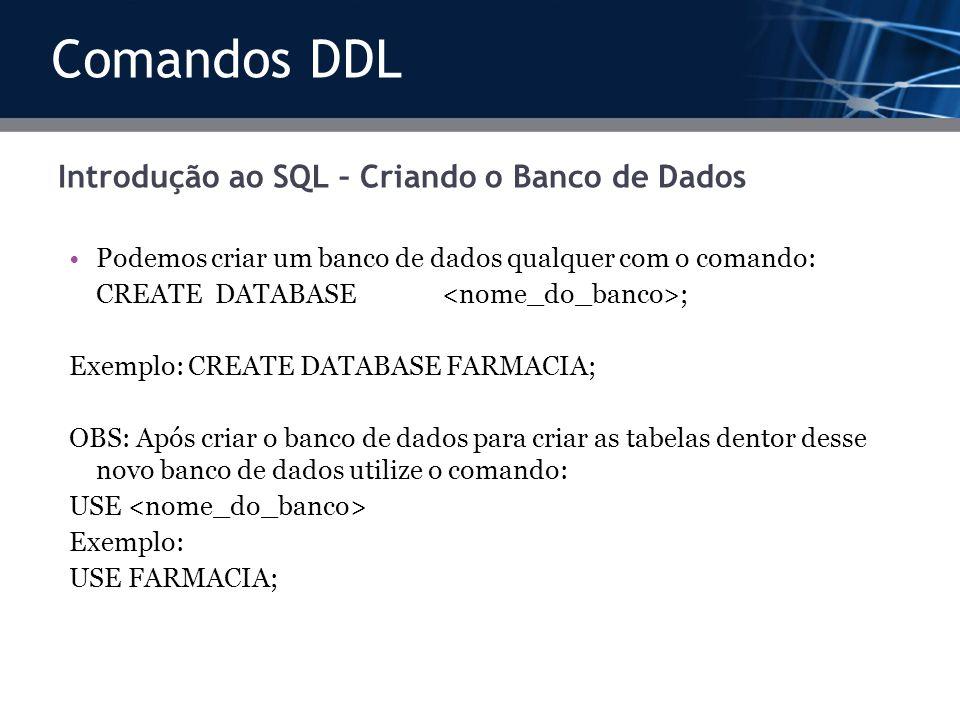 Introdução ao SQL – Criando o Banco de Dados
