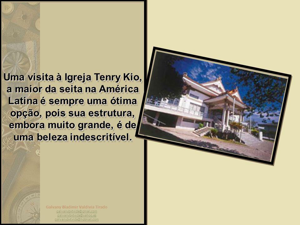 Uma visita à Igreja Tenry Kio, a maior da seita na América Latina é sempre uma ótima opção, pois sua estrutura, embora muito grande, é de uma beleza indescritível.