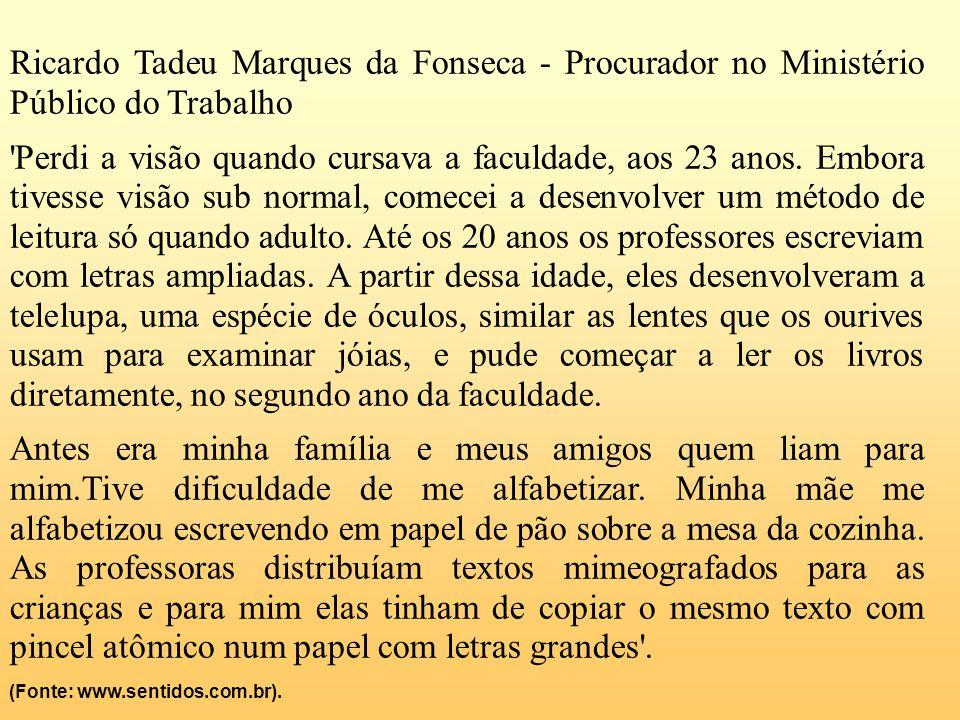 Ricardo Tadeu Marques da Fonseca - Procurador no Ministério Público do Trabalho