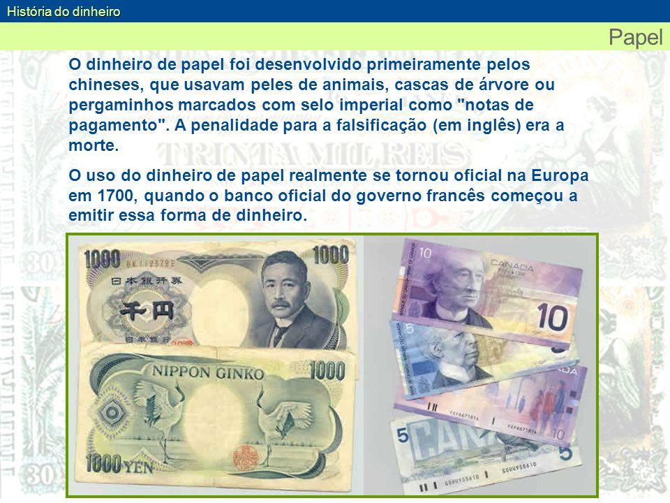 História do dinheiro Papel.