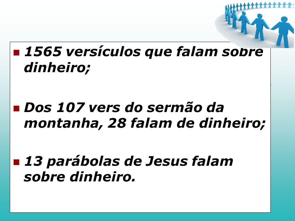 1565 versículos que falam sobre dinheiro;
