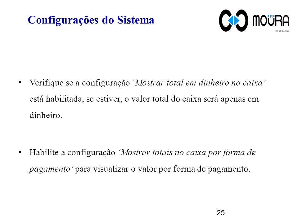 Configurações do Sistema