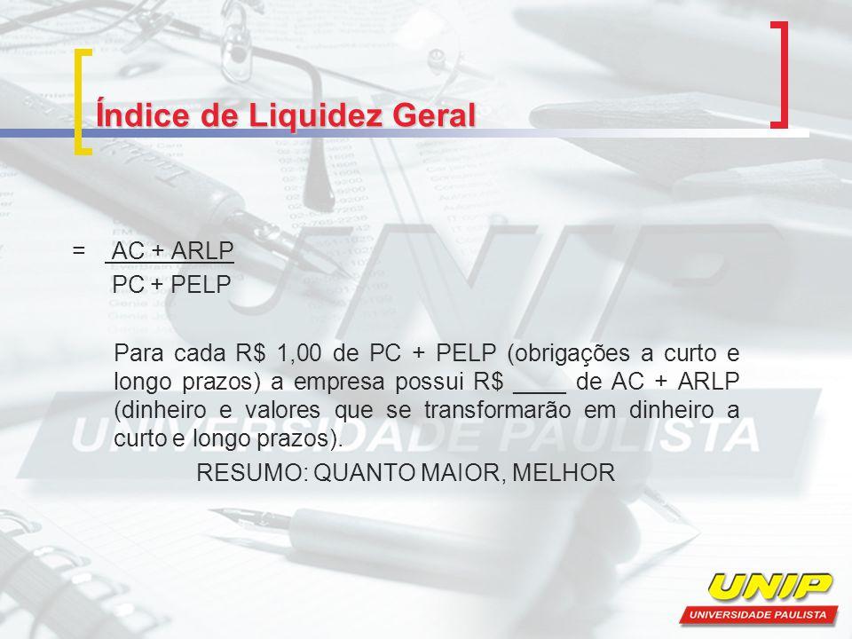 Índice de Liquidez Geral