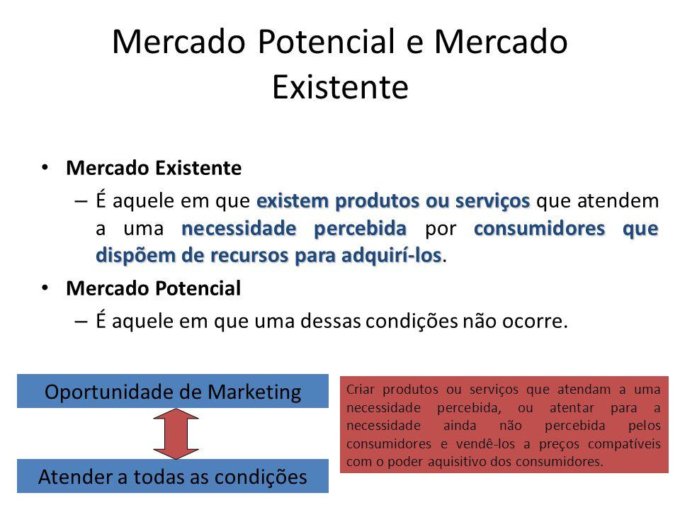 Mercado Potencial e Mercado Existente