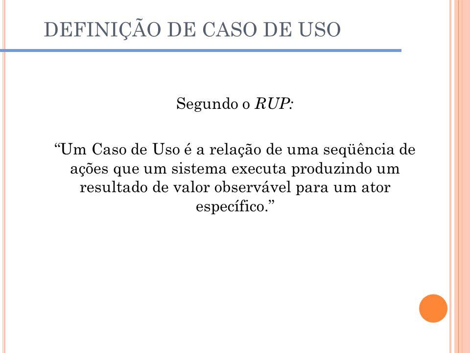 DEFINIÇÃO DE CASO DE USO