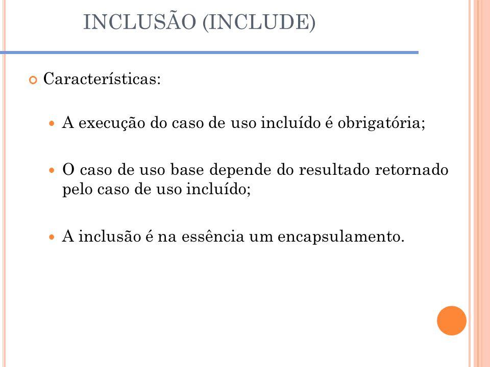 INCLUSÃO (INCLUDE) Características: