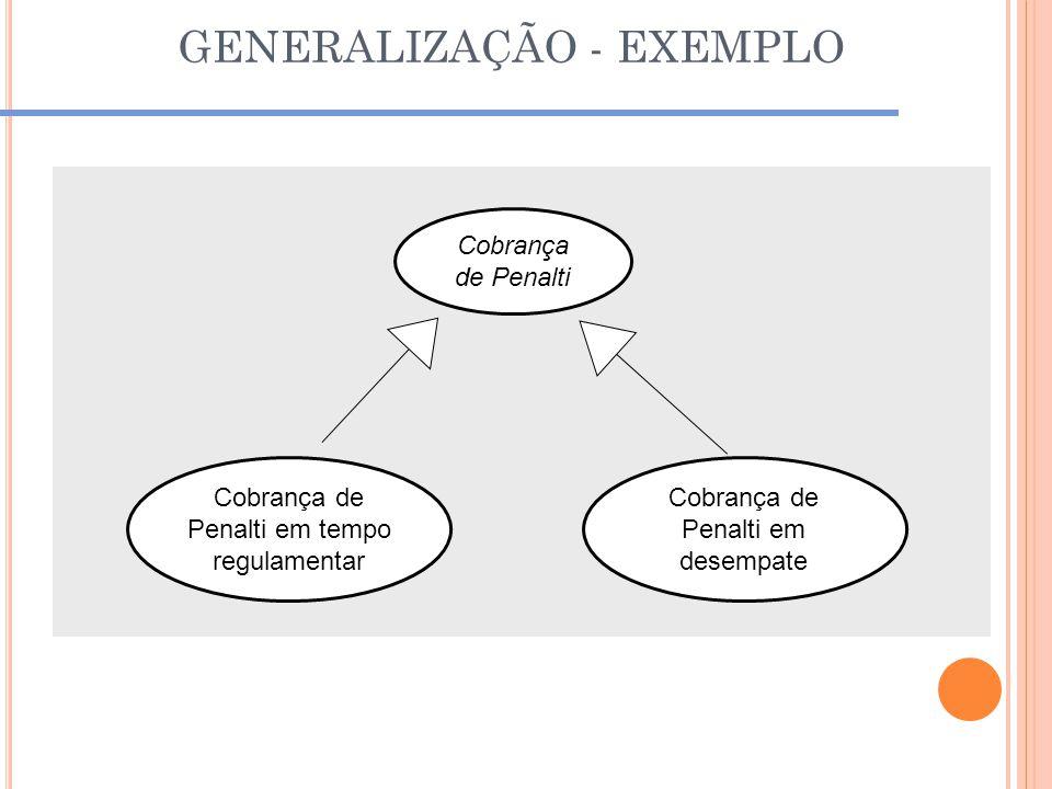 GENERALIZAÇÃO - EXEMPLO