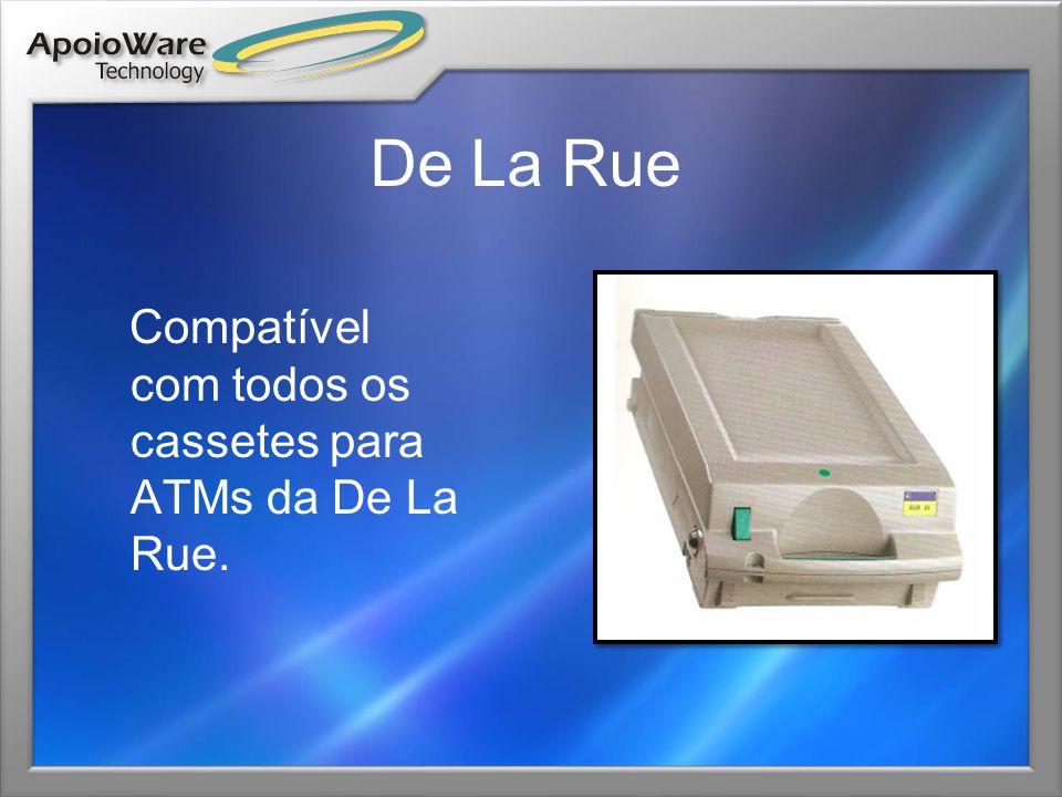 De La Rue Compatível com todos os cassetes para ATMs da De La Rue.