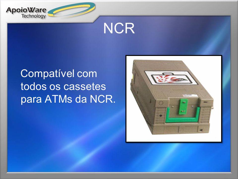NCR Compatível com todos os cassetes para ATMs da NCR.